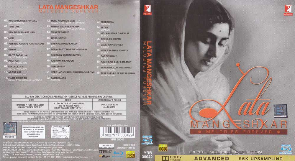 Description Lata Mangeshkar Melodies Forever Hindi 50 Songs Blu Ray Good collection of old songs. njmtv com