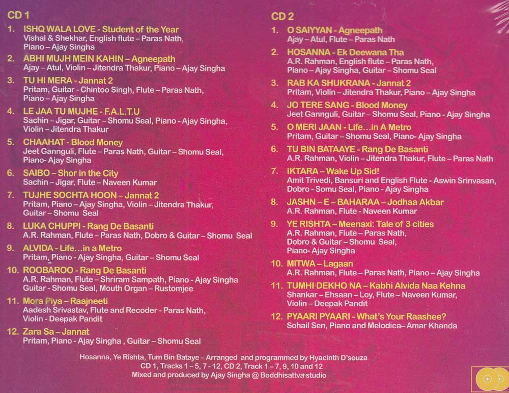 Description - Love Grooves Hindi Songs CD