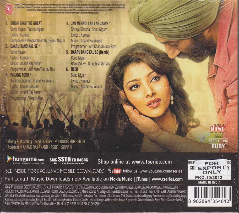 Download singh saab the great all video songs in full hd – watch.