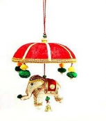 Elephant Basket with 1 Piece Velvet Red