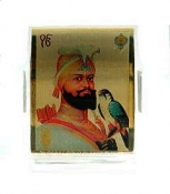 Guru Gobind Singh Gold Plated Photo Stand - Small Size