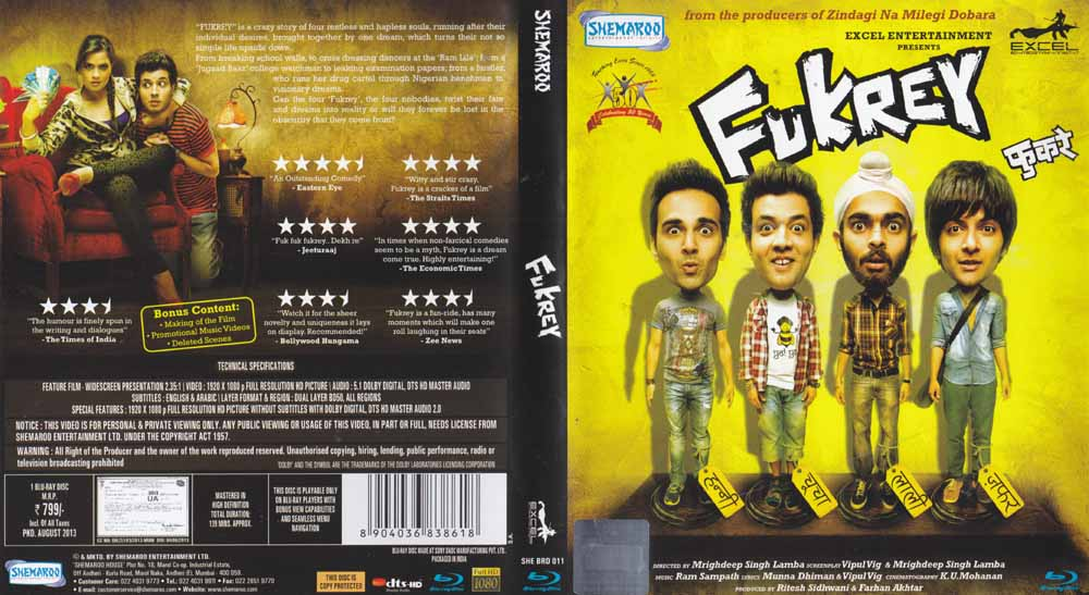 Description - Fukrey Hindi Blu Ray