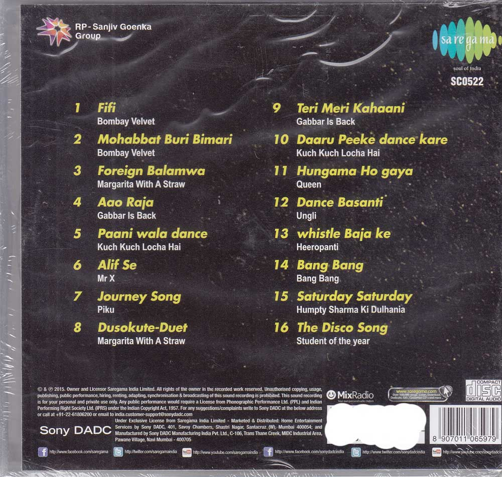 Description - Hot Summer Hits 2015 Hindi CD