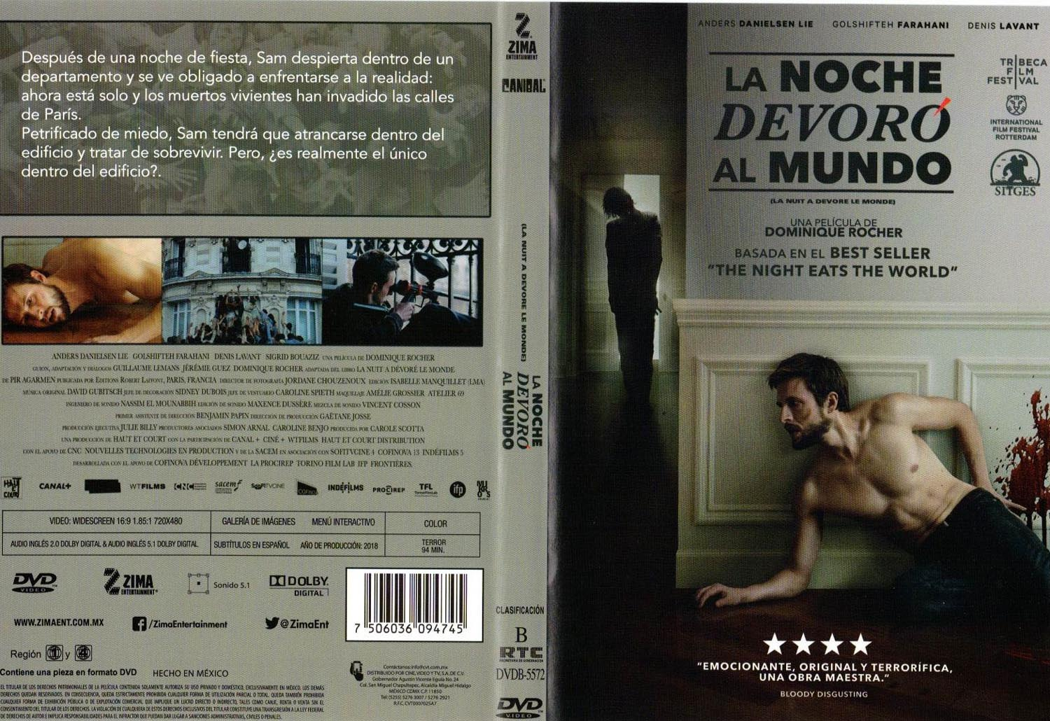 Description La Noche Devoro Al Mundo Dvd